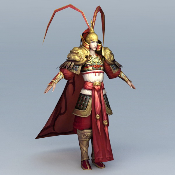 Ancient Chinese General Officer 3d model
