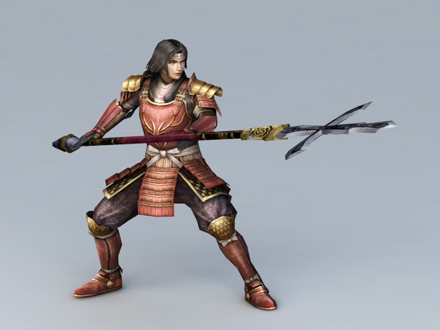 Japanese Samurai Warrior 3d Model 3ds Max Files Free
