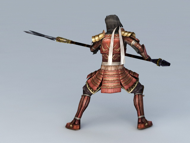Japanese Samurai Warrior 3d Model 3ds Max Files Free