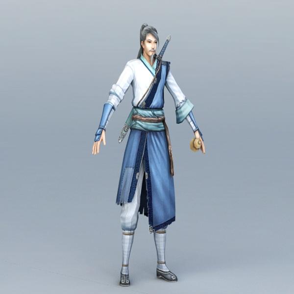 Taoist Swordsman 3d model