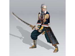 Old Japanese Samurai 3d model