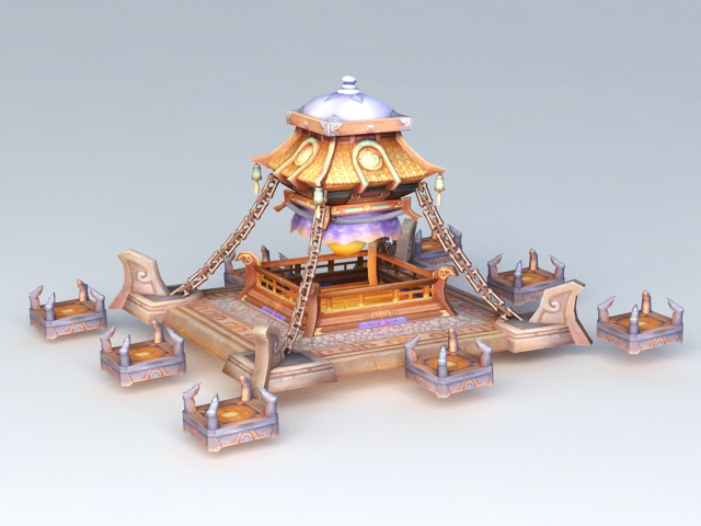 Fantastic Sacrificial Altar Tower 3d model