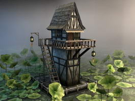 Lotus Pond Pavilion 3d model