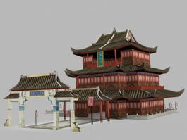 Pavilion of Prince Teng 3d model