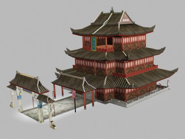 Pavilion of Prince Teng 3d model