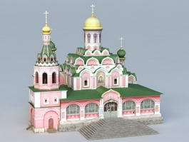 Kazan Cathedral Church 3d model