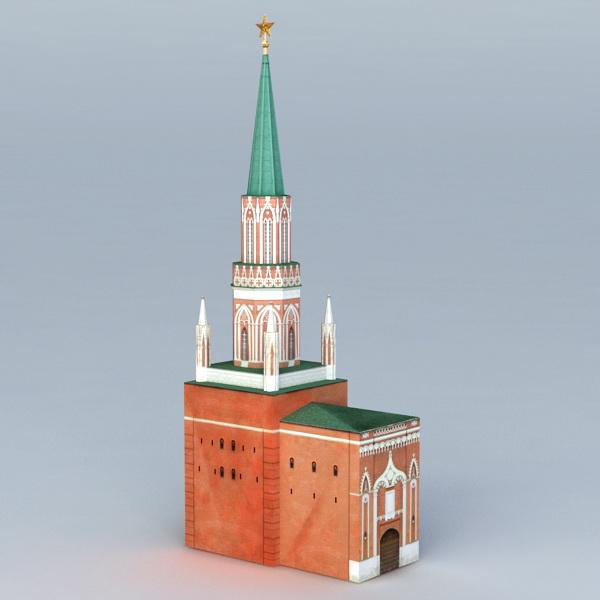 Nikolskaya Tower 3d model