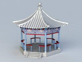 Traditional Chinese Garden Pavilion 3d model