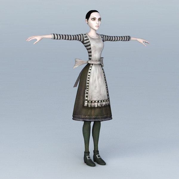 Scary Maid 3d model