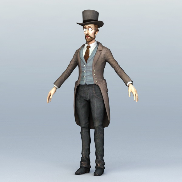 19th Century Doctor 3d Model 3ds Max Files Free Download