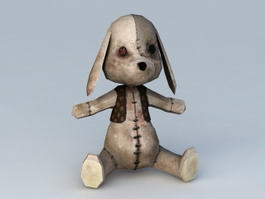 Scary Bunny Stuffed Animal 3d model