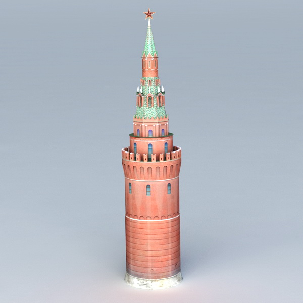 Russia Tower Moscow Kremlin 3d model
