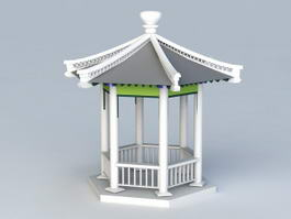 Hexagonal Pavilion 3d model