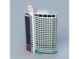 Modern City Hospital 3d model