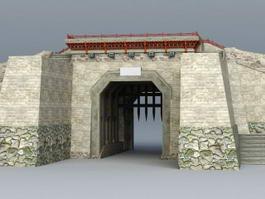 Ancient China City Gate 3d model