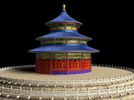 Temple Heaven Beijing China 3d model