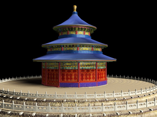 Temple Heaven Beijing China 3d Model 3ds Max Files Free