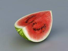 Watermelon Quarter 3d model