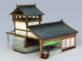 Chinese Blacksmith Building 3d model
