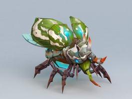 Titan Beetle Monster Rigged 3d model