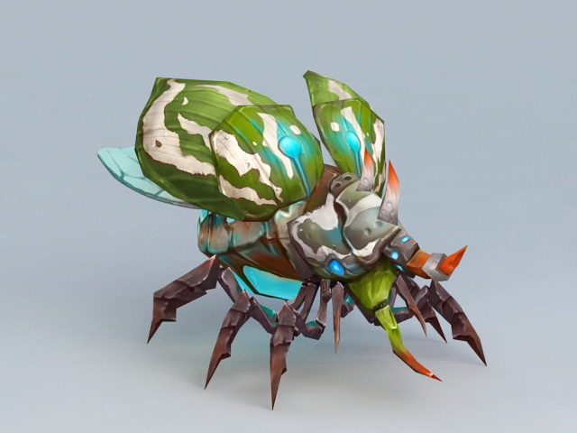 Titan Beetle Monster Rigged 3d model