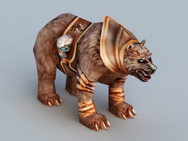 Guardian Druid Bear 3d model