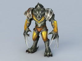 Wolf Warrior Rigged 3d model