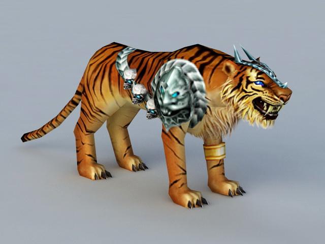 Battle Tiger Rigged 3d model