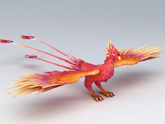 Mythical Creatures Phoenix 3d model