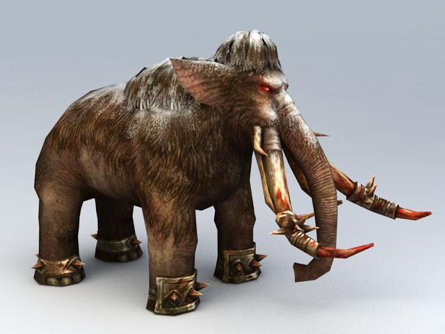 War Mammoth Rigged 3d model