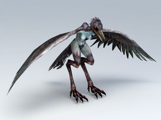 giant bird monster rigged 3d model 3ds max files free