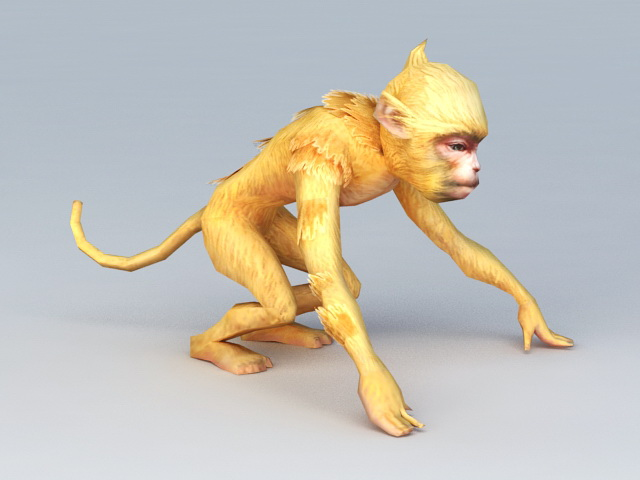 Golden Monkey Rigged 3d Model 3ds Max Files Free Download