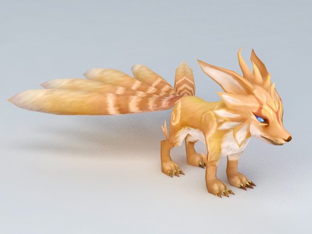Anime Five-Tailed Fox 3d model
