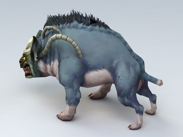 Battle Wild Boar Rigged 3d Model 3ds Max Files Free