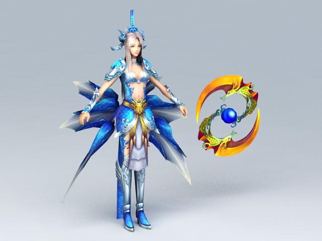 Female Warrior Goddess 3d model