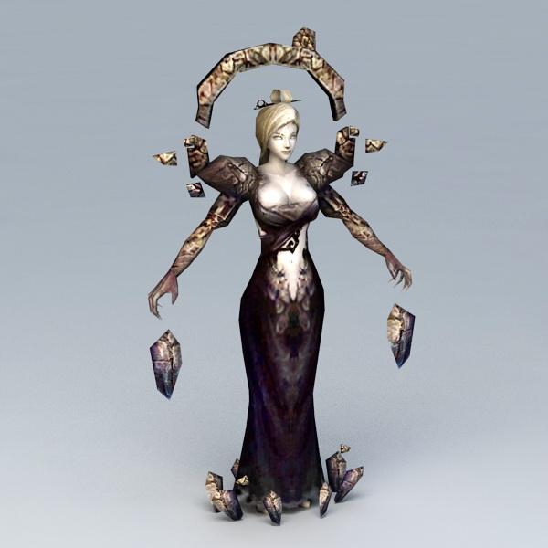 Female Dark Sorceress 3d model