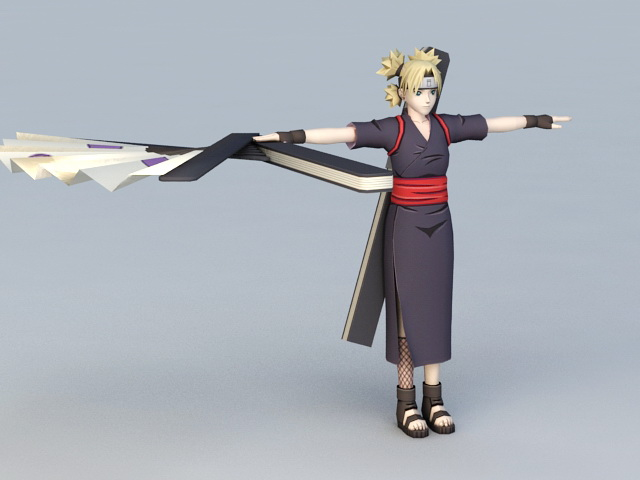 Naruto Temari 3d Model 3ds Max Files Free Download