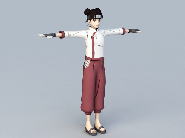 Naruto Shippuden Tenten 3d Model 3ds Max Files Free