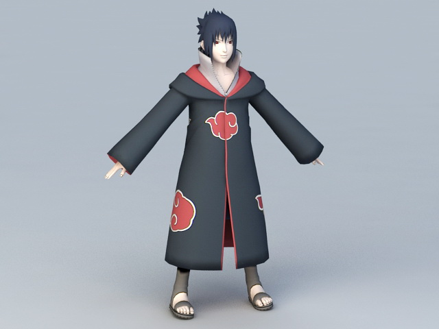 Naruto Sasuke Uchiha 3d model