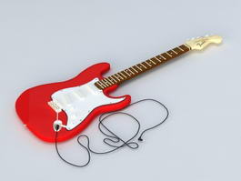 Fender Electric Guitar 3d model