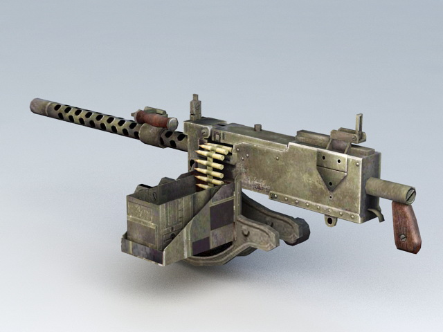 WWII 30 Cal Machine Gun Ammo 3d model