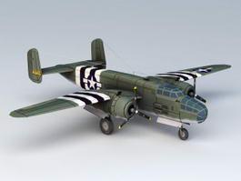 WW2 American B25 Bomber 3d model