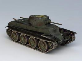 BT-7 Soviet Cavalry Tank 3d model