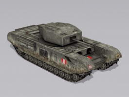 British Churchill Infantry Tank 3d model