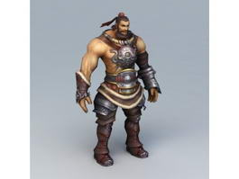 Warrior Man Rigged 3d model