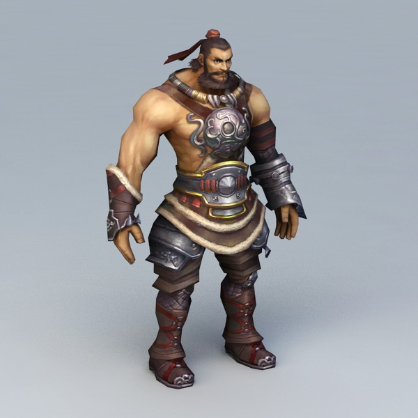 Warrior Man Rigged 3d Model 3ds Max Files Free Download