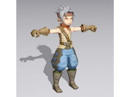 Anime Boy Warrior Rigged 3d model