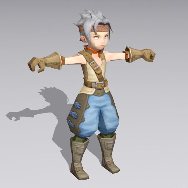 Anime Boy Warrior Rigged 3d model