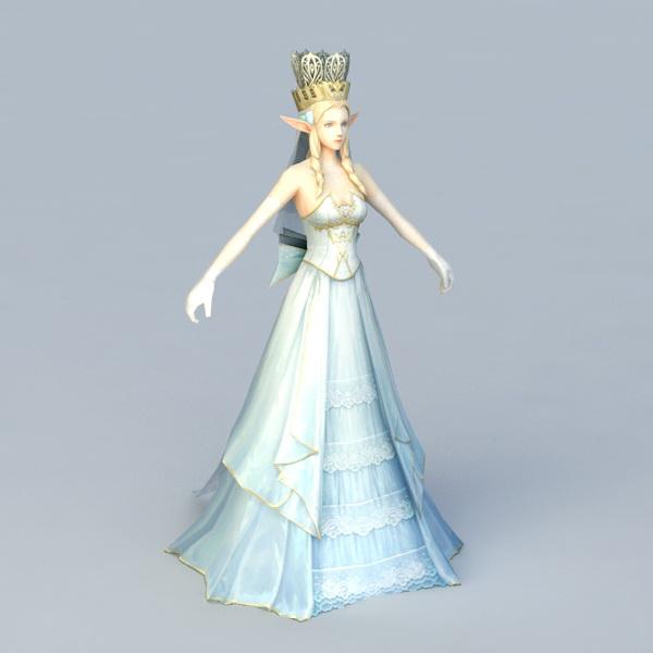 Beautiful Elf Queen 3d model