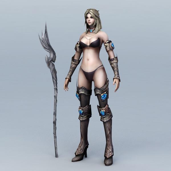 Mage Woman 3d model